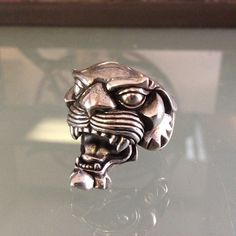 Instagram media by flintlocksilver - Panther ring cast in silver #silver #sterling #sculpture #silver925 #silversmith #silverjewelry #flintlocksilver #fashion #ring #rockandroll #metal #metalsmith #metalcasting #menssilverjewelry #wax #waxcarving #bikerjewelry #biker #jewelry #jewelers #joshmurray #jewelryaddict #jewelryaddict #jewelrymaking #panther