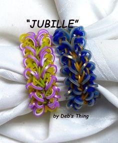 "Rainbow Loom Bracelet - Original Design - ""JUBILEE"" (ref # 4tt)"