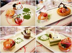 hello kitty desserts from hello kitty sweets cafe in taipei