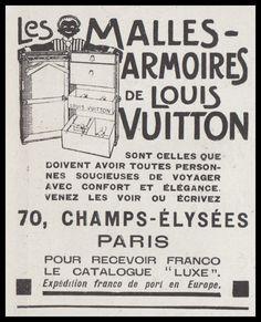 PUBLICITE LOUIS VUITTON ART DECO AD 1922 - 12G b | eBay