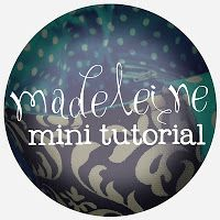 madeleine mini tutorial: zipper pocket || imagine gnats