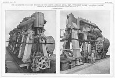 1910 Old Engineering Print- Engines of South African Mail Liner, Balmoral Castle   eBay