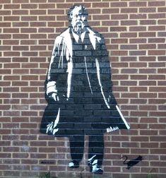 "Blek Le Rat, ""Sokrates"" at Montgomery Bell Academy in Nashville, USA, 2018 Nashville Usa, Blek Le Rat, Graffiti Art, Rats, Nike Jacket, Street Art, Street, Kunst, Nike Vest"