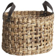 Cooper Banana Leaf Weave Basket Pier One Rattan, Wicker, Large Baskets, Decorative Baskets, Basket Decoration, Open Weave, Pier 1 Imports, Sisal, Storage Baskets