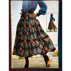 "1970-71 - Saint Laurent Rive Gauche skirt - Olivier Chatenet collection ""skirt to be sold at #paris #joycegalleryysl """