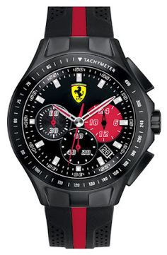 cuderia Ferrari 'Race Day' Chronograph Watch, 44mm