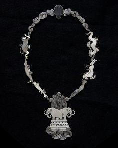 Ahlene Welsh  Intelligent Design 2005  sterling silver, trilobite