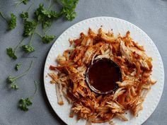 Dobrou chuť: Trhané maso Grains, Spaghetti, Pork, Rice, Breakfast, Ethnic Recipes, Pork Roulade, Morning Coffee, Pigs