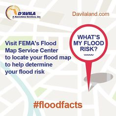 What's my Flood Risk? #floodfacts #floodfriday #davilaland #landsurvey #Engineers #homeinsurance #homeinspection #southflorida