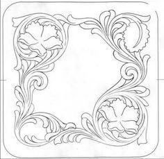 Flower and vine border