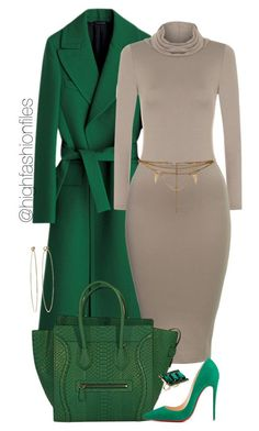 Green by highfashionfiles on Polyvore featuring polyvore fashion style WearAll Christian Louboutin ASOS Dean Harris Vanessa Mooney women's clothing women's fashion women female woman misses juniors