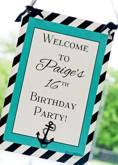 Nautical Themed Sweet 16 decor...i do wana do a pool party so this is an idea.