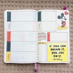 "154 Me gusta, 10 comentarios - GemmaMarie (@doodledaydarlings) en Instagram: ""Another week, another #weeklyspread inspired by a little mouse #weeklyplanner #bulletjournal…"""