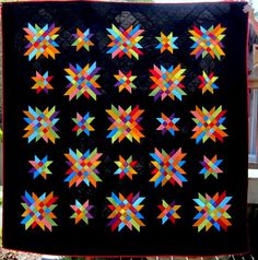 Delectable Stars Quilt Pattern – Stars are Made from Half Square Triangles