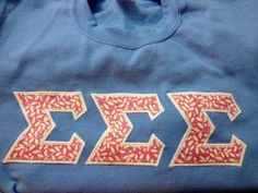 Sigma Sigma Sigma Greek Lettered sweatshirt, get your own crewneck for only $12.60 from LaHerds!