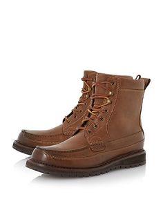 Polo Ralph Lauren Willingcott Apron Stitch Leather Boot