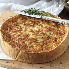 Originating in France, Quiche Lorraine is made with bacon and cheese. This version uses ham, caramelized onions, Gouda and a unique low carb crust to create a beautiful presentation.