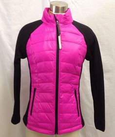 Calvin Klein Performance Womens Jacket Pink Quilted Down Feather Quick Dry Small #CalvinKlein #CoatsJackets