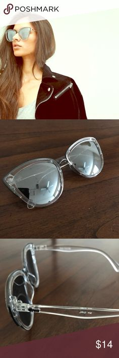 Quay My Girl Sunglasses Quay My Girl Cat-Eye Sunglasses. Silver/clear. Mirrored lenses. UV protection. In good condition! Case not included. Quay Australia Accessories Sunglasses