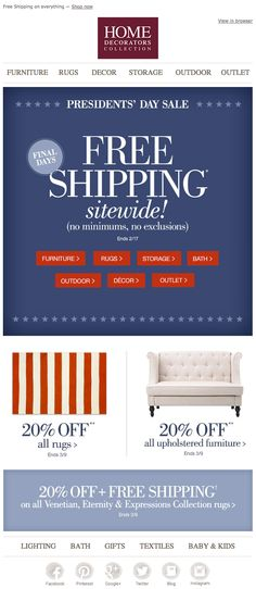 Wayfair.Com President'S Day Email 2014 | Email - Holiday