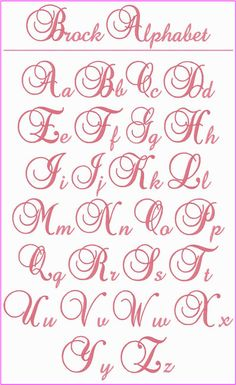"! ! ! Brock Alphabet ! ! ! This is a beautiful, elegant alphabet that you'll want to use whenever you're looking for the perfect letters for a monogram.  The upper case letters stitch at 3"" tall and the lower case letters are between .75"" to 2.25"" tall.  Use them on bed linens, kitchen items, towels, clothing, totes, anywhere you want to add a touch of elegance."