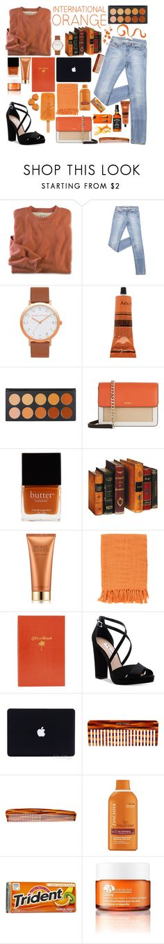 """""""Sin título #747"""" by fashionableforeign ❤ liked on Polyvore featuring Aesop, DKNY, Butter London, Estée Lauder, Surya, Sloane Stationery, Nina, Mason Pearson, Lancaster and Origins"""
