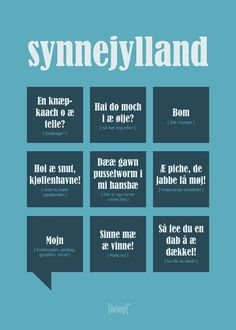Synnejylland Poster from Dialægt