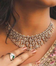 Saved by radhareddy garisa - Diamond - Schmuck Diamond Necklace Set, Diamond Pendant, Diamond Jewelry, Silver Jewelry, Silver Rings, Indian Diamond Necklace, Dimond Necklace, Garnet Necklace, Women's Jewelry