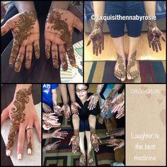 Had a lovely time doing henna for my bride and her bridesmaids today! #henna #hennaart #hennatattoo #mehndi #indian #indianbride #exquisitehennabyrosie #lovehenna #mehndiart #mehandiart  #desi #desibride #torontohenna #gtahennaartist #sangeet #bridesmaids #bride #glitter #shine #engagement #wedding #marriage #sikhwedding #eid #shaadi #valima #karvachauth #karwachauth #hennaartist #jessewedsricky
