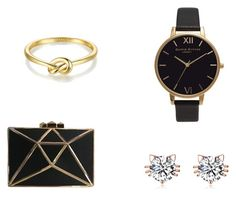 gold black by wnuczkazmaroka on Polyvore featuring moda and Olivia Burton