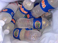 Florida Gator Water Bottles (made with duct tape) | University of Florida TailGATOR | Football Tailgating
