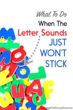 Do you have some Kindergarten or first grade students who are struggling with letter sounds? Give Phonological Awareness Skills a Little Extra Attention. This post has teaching strategies and tips to help! - Learning at the Primary Pond Teaching Letter Recognition, Teaching Letter Sounds, Teaching The Alphabet, Teaching Phonics, Preschool Literacy, Teaching Tips, Alphabet Sounds, Sounds Of Alphabets, Autism Teaching Strategies