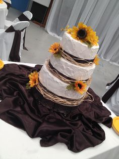 Rustic Sunflower Bridal Shower Cakeexcept Better With Some Da