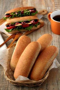 「サンドイッチに!小麦胚芽入りのコッペパン」takacoco | お菓子・パンのレシピや作り方【corecle*コレクル】