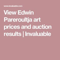 View Edwin Pareroultja art prices and auction results | Invaluable