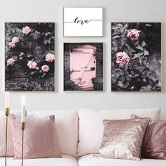 Unique Home Decor, Diy Home Decor, Home Decor Bedroom, Living Room Decor, Living Area, Dining Room, Rosa Rose, Living Room Pictures, Wall Pictures
