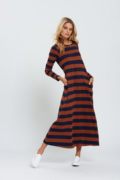 Striped Maxi Dress - Bohemian Traders