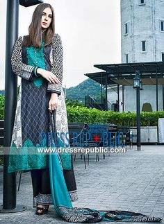 Kalyan Pakistani Fashion Cotton Suits Online 2014  Embroidered Eid Collection 2014 By ZS Textile Composed in Cotton for Mid Summer. by www.dressrepublic.com