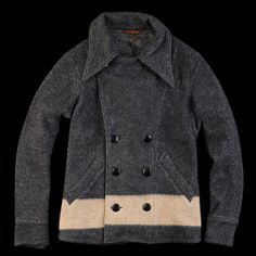 UNIONMADE - Kapital - Army Boder Terry Lined Pea Coat