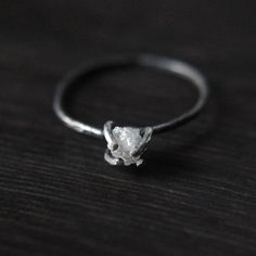 a not so traditional engagement ring