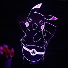 Pokemon Go Pikachu 7 LED Color table Lamp The World Of Pokemon Go