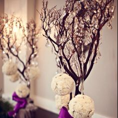 #purple #wedding #centerpiece