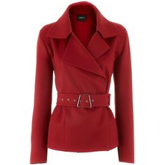 Akris Red Cashmere Jacket Daily ❤ liked on Polyvore