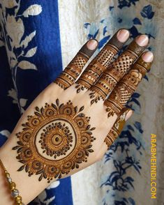 50 Most beautiful Heena Mehndi Design (Best Henna Design) that you can apply on your Beautiful Hands and Body in daily life. Circle Mehndi Designs, Round Mehndi Design, Pretty Henna Designs, Modern Henna Designs, Latest Bridal Mehndi Designs, Mehndi Designs Book, Mehndi Designs For Beginners, Mehndi Designs For Girls, Mehndi Design Photos