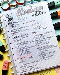 Zusammenfassung der Geschichte - Militärdiktatur - Taking notes inspo - Militar Bullet Journal Notes, Bullet Journal School, Bullet Journal Ideas Pages, College Notes, School Notes, Mental Map, Neat Handwriting, Study Organization, Study Journal
