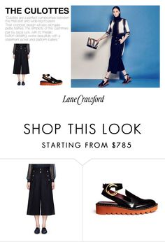 """The Culottes"" by lanecrawford ❤ liked on Polyvore featuring Sacai Luck, STELLA McCARTNEY, Lane Crawford, women's clothing, women, female, woman, misses and juniors"