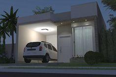 Planta de casa simples com garagem Small Modern Home, Bungalow House Design, Exterior Design, Garage Doors, Architecture, Outdoor Decor, Future, Home Decor, One Story Homes