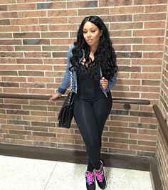 "Beautiful Ebony woman wearing stylish casual outfit with sneakers. ""Casual Today"" #Casual #outfit"