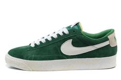 new concept d95ce 0a721 Nike Blazer Low Premium hommes Suede Vintage Vert Blanc,Fashionable and  quality sports shoes here