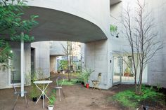 New Approaches to Apartment Living in Japan | Okurayama Apartment  by Kazuyo Sejima & Associates.  Kazuyo Sejima designed this nine-unit apartment in Yokohama with an undulating inner court. Each unit has access to either its own garden or roof terrace. The glimpses into this maze-like open space adds a unique character to the surrounding neighbourhood.